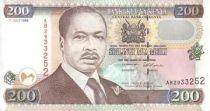 Kenya 200 Shillings Prés. D. Toroitich Arap Moi - Monument