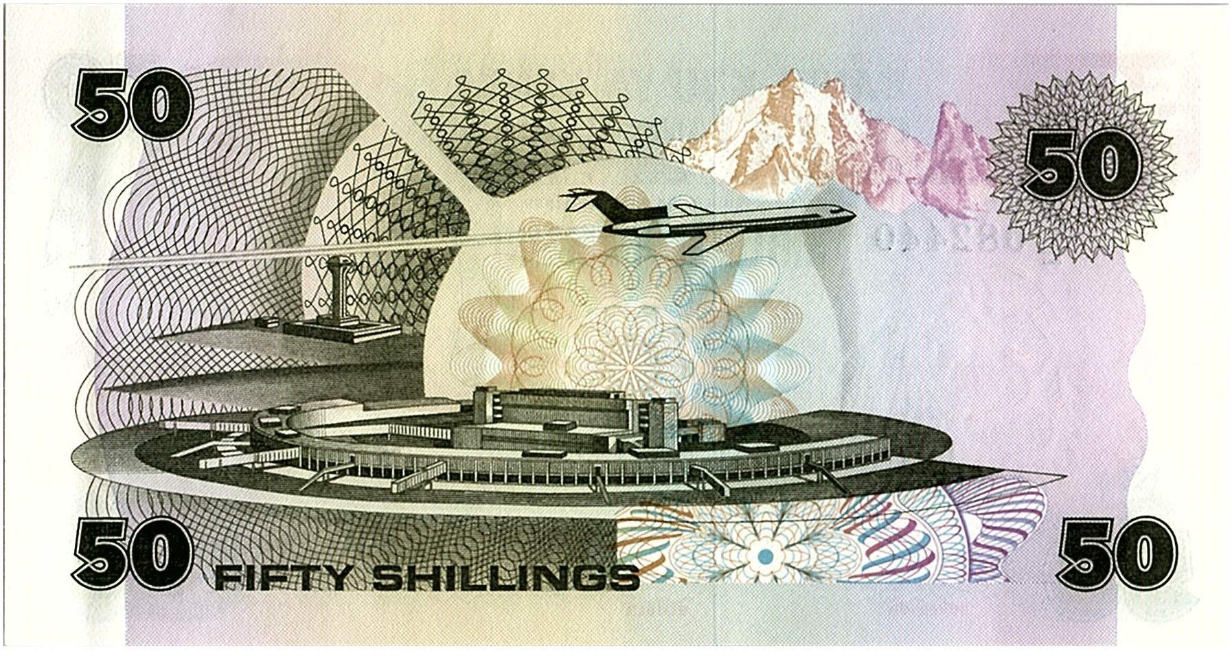 Kenya 50 Shillings  - Daniel Toroitich Arap Moi -1980