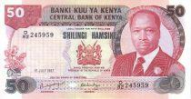 Kenya 50 Shillings Prés. D. Toroitich Arap Moi - Aéroport - 1987