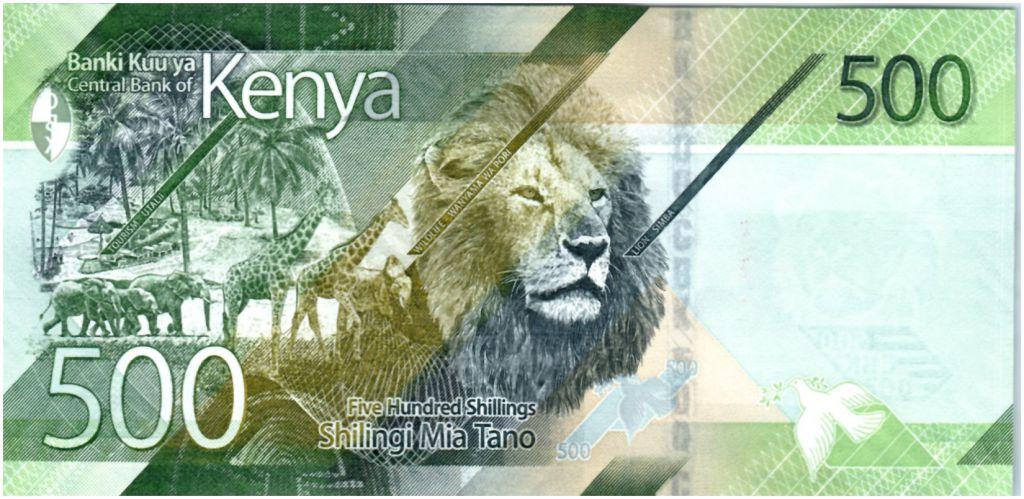 Kenya 500 Shillings M. J. Kenyatta - Animaux - 2019 - Neuf