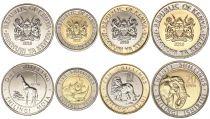 Kenya Série 4 monnaies 2018 - 1, 5, 10 et 20 Shilingi