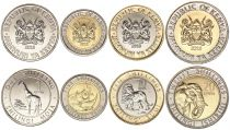 Kenya Set of 4 coins 2018 - 1, 5, 10 and 20 Shilingi