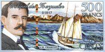 Kerguelen (Archipel des) 500 Francs, J.B. Charcot, voilier - Chat - 2011