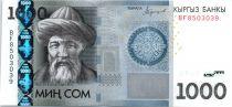 Kirghizstan 1000 Som Jusul Balasagbin - 2016 - nouvelle date et petites modifications