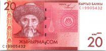 Kirghizstan 20 Som Togolok Moldo - 2009