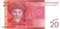 Kirghizstan 20 Som Togolok Moldo - 2016 (2018)