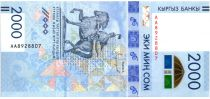 Kirghizstan 2000 Som 2018 - Jeux d\'hiver