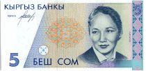 Kirghizstan 5 Som,  B. Beishenalieya - Opéra - 1994 - P.8