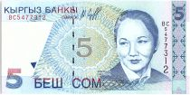 Kirghizstan 5 Som,  B. Beishenaliyeva - Opéra - 1997 - P.13