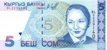 Kirghizstan 5 Som - B. Beishenaliyeva - Opéra - 1997