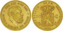 KM.105 10 Gulden, Guillaume III - Armoiries 1875