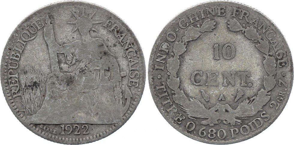 KM.16.1 10 Cents, Woman with laurel - A-Paris - 1922