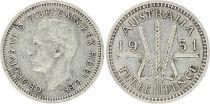 KM.44 3 Pence, George VI - Argent - 1951