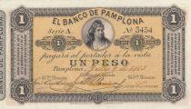 Kolumbien 1 Peso Woman - 1883