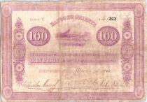 Kolumbien 100 Pesos Mountains 1900