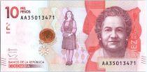 Kolumbien 10000 Pesos, V. Gutierrez de Pineda - 2015 (2017)