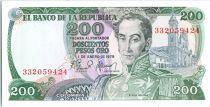 Kolumbien 200 Pesos Simon Bolivar - Harvesting coffee - 1979