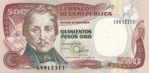 Kolumbien 500 Peso Oro Oro, Gal Santander - Bogota - 1993