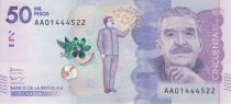 Kolumbien 50000 Pesos Gabriel Garcia Marquez - 2015 (2016)