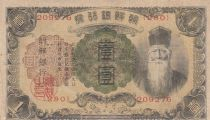 Korea 1 Yen Man w/beard - ND (1932) - Fine to VF - P.29