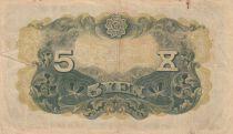 Korea 5 Yen Man w/beard - ND (1935) - Fine to VF - P.30