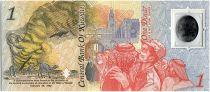 Koweit 1 Dinar, Carte - 2 e anniversaire de la Libération du pays - 1993 Polymer - Neuf