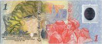 Koweit 1 Dinar, Carte - 2 e anniversaire de la Libération du pays - 1993 Polymer