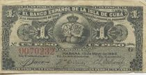 Kuba 1 Peso Arms - Queen Maria Cristina