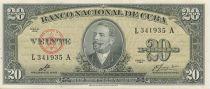 Kuba 20 Pesos Antonio Maceo - 1960 Sign. Che Guevara