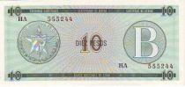 Kuba FX.8 10 Pesos, Serie B - Los Angeles de Jagua