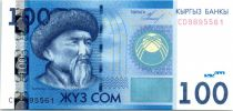 Kyrgyzstan 100 Som Toktogul - Teniyri Mountains - 2009