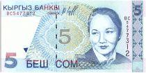 Kyrgyzstan 5 Som,  B. Beishenaliyeva - Opéra - 1997 - P.13