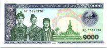 Lao  1000 Kip Women, temple - Cows - 2003
