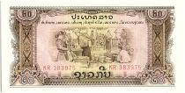 Lao  20 Kip,  Rice distribution - Forge - 1975