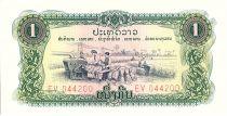 Laos 1 Kip, Récolte - Dispensaire -1976 - P.19 A