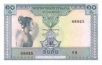 Laos 10 Kip - Laotienne - Figures stylisées - 1962 - Série Y.8 - Neuf - P.10b