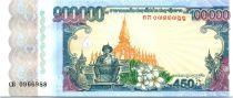Laos 100000 Kip, Chao Zaysettha - 450 ans de la Nation - 2010