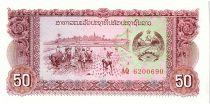Laos 50 Kip,  Rizière - Barrage - 1979 - P.28 r