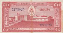 Laos 50 Kip National Assembly - Elephant - 1957 Serial AJ