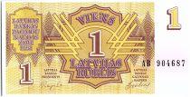 Latvia 1 rublis, Symmetrical design - 1992 - P.35