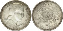 Latvia 5 Lati Milda - 1929 Silver