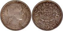 Latvia 5 Lati Milda - 1932 Silver