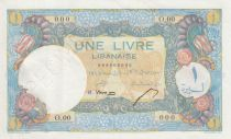 Lebanon 1 Livre 1945 - Bank of Syria and Lebanon - Specimen - P.49s