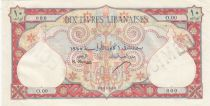 Lebanon 10 Livres 1945 - Bank of Syria and Lebanon - Specimen - P.50s