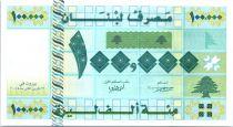 Lebanon 100000 Livre Geometric design - Fruits