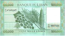 Lebanon 100000 Pounds Geometric design - Fruits - 2011
