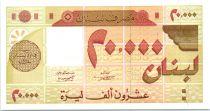 Lebanon 20000 Livre Geometric design - 1994