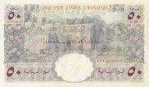 Lebanon 50 Livres 1945 - Bank of Syria and Lebanon - Specimen - P.52s