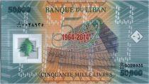 Lebanon 50000 Livres 50 years Bank of Lebanon - 1964-2014