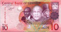 Lesotho 10 Maloti Roi Letsie III - Fleurs - 2010